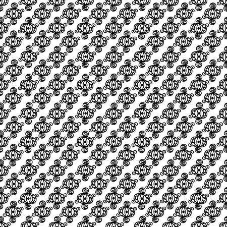 laced: Abstract seamless pattern in black and white. Geometric decorative background. Endless print monochrome texture Illustration