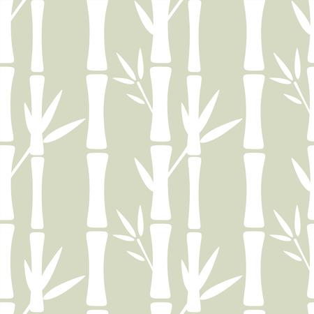 Seamless pattern con alberi di sagome di bambù e foglie. Priorità bassa floreale astratta. Estate, tropici, foresta pluviale. Endless stampa struttura - vettore Vettoriali