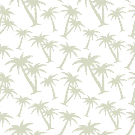 Streszczenie kwiatowy szwu z sylwetki tropikalne palmy kokosowe. Plaża tła. Lato, zwrotniki, las deszczowy. Kompletne druku tekstury - wektor Ilustracje wektorowe
