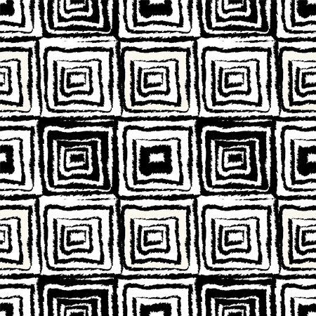 ethnical: Abstract grunge seamless pattern in black and white.