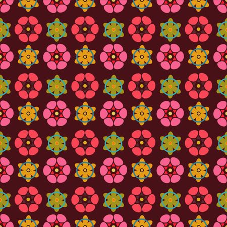 flowerbed: Abstract seamless pattern with silhouettes flowers. Floral repeating background. Endless print texture. Fabric design. Wallpaper