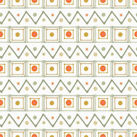 la lumière de l'art abstrait seamless carrés, cercles, triangles. Taches de peinture. print africaine répéter texture de fond. Création de tissus. papier peint géométrique - vecteur