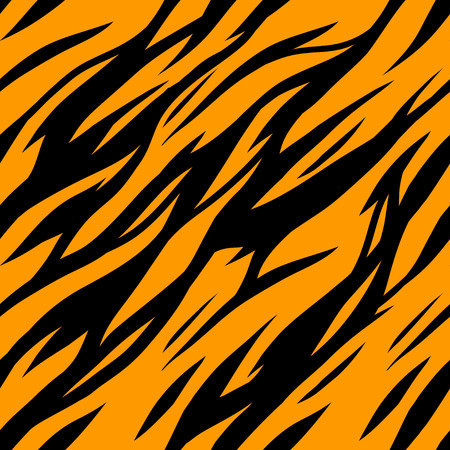cartoon orange: Abstract print animal seamless pattern. Zebra, tiger stripes. Striped repeating background texture. Fabric design. Wallpaper - vector