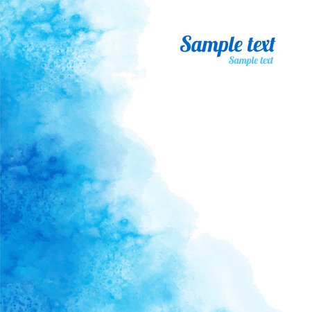 Watercolor blue background texture with space for text - vector