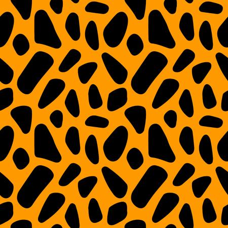 抽象的なプリント動物のシームレスなパターン。背景テクスチャを繰り返し。ファブリックの設計。壁紙 - ベクトル