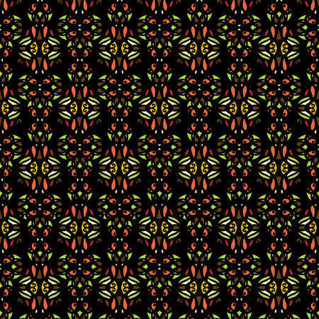 Tribal art ethnic seamless pattern. Abstract geometric repeating background texture. Fabric design. Wallpaper - vector