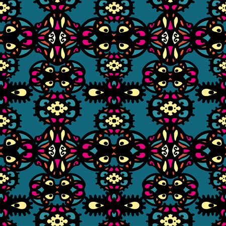 Abstract ethnic seamless pattern. Floral background texture. Endless repeating print. Fabric design. Wallpaper Illustration