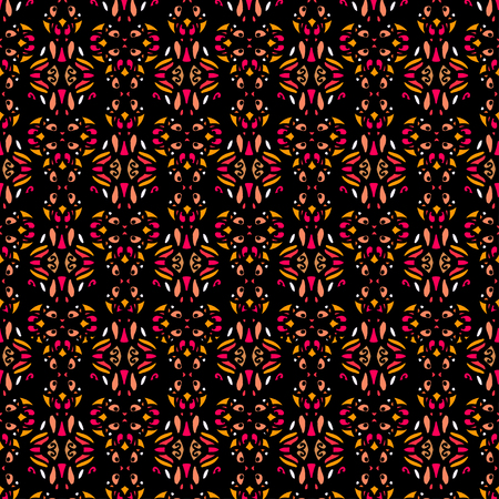 Folk ethnic seamless pattern. Abstract geometric repeating background texture. Fabric design. Wallpaper - vector