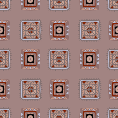 Tribal art ethnic  pattern. Abstract geometric repeating background texture. Fabric design. Wallpaper - vector Illustration
