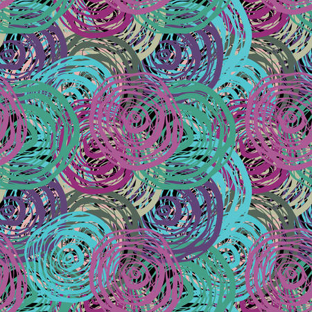 Abstract art grunge seamless pattern. Geometric background with Swirling print distressed background texture.