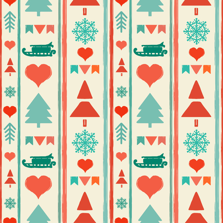 holidays vintage christmas seamless boarders abstract silhouette new year ornament repeating pattern background