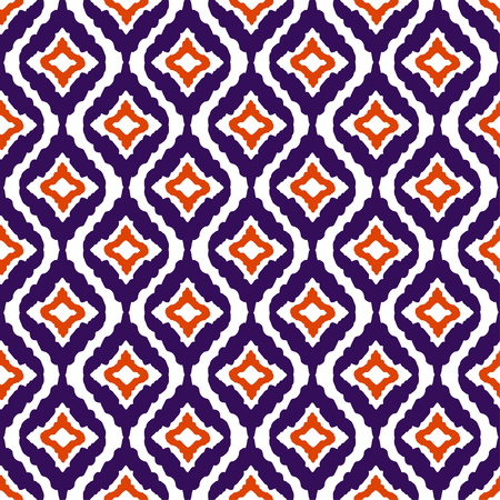 Abstract tribal art ethnic seamless pattern. Ikat. Folk repeating background texture. Geometric print. Fabric design. Wallpaper Illustration