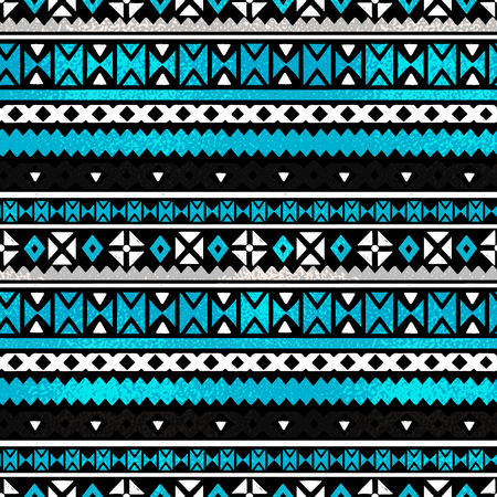 Tribal art ethnic seamless pattern. Folk abstract geometric repeating background texture, fabric design wallpaper.