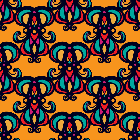 Abstract floral seamless pattern. Repeating background texture. Endless print. Fabric design. Wallpaper illustration. Ilustrace