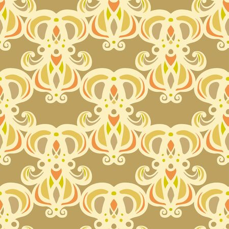 Abstract floral seamless pattern. Repeating background texture. Endless print. Fabric design. Wallpaper Ilustrace