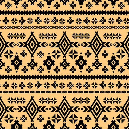 Tribal art ethnic seamless pattern. Folk abstract geometric repeating background texture. Fabric design. Wallpaper
