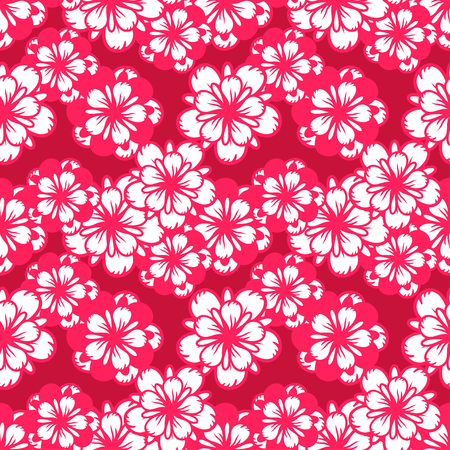 Abstract seamless pattern with flowers. Floral repeating background texture.