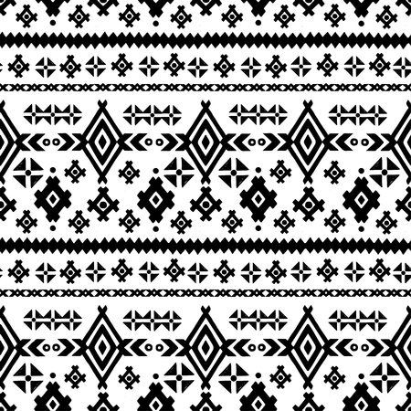 Tribal art ethnic seamless pattern. Folk abstract geometric repeating background texture. Fabric design. Wallpaper Imagens - 98120493