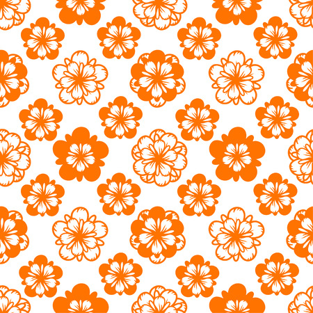Abstract seamless pattern with flowers. Floral repeating background texture. Fabric design. Wallpaper