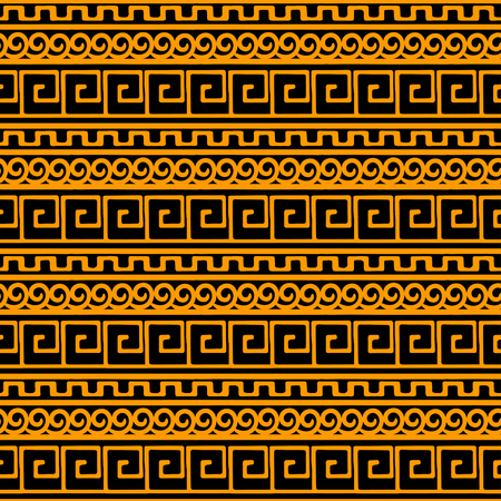 Tribal art Greece vintage ethnic seamless pattern. Meander. Greek borders. Folk abstract repeating background texture. Cloth design Wallpaper