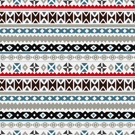 Tribal art ethnic seamless pattern. Folk abstract geometric repeating background texture. Fabric design.