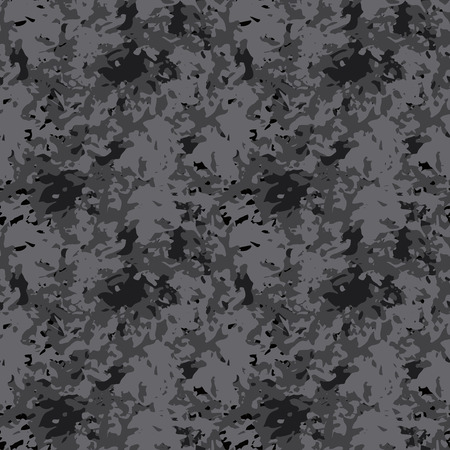 Abstract art modern distressed seamless pattern. Paint stains. Camouflage print monochrome background texture. Fabric design. Wallpaper Stock Illustratie