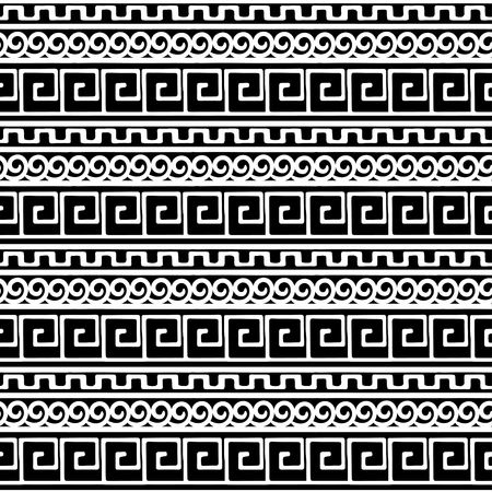 Tribal art Greece vintage ethnic seamless pattern. Meander. Greek borders. Folk abstract repeating background texture. Cloth design. Wallpaper
