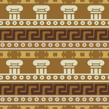 Tribal art Greece vintage ethnic seamless pattern. Greek borders. Folk abstract repeated background texture. Cloth design. Wallpaper