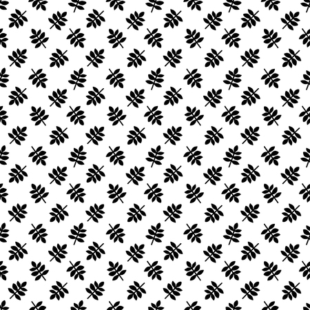 Seamless pattern with leafs in black and white. Floral repeating background. Repeating print texture. Cloth design. Wallpaper