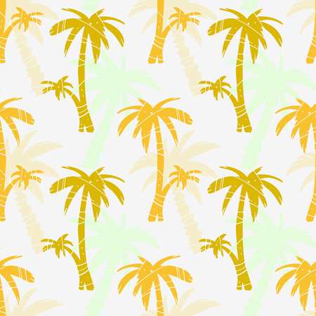 Exotic seamless pattern with silhouettes tropical coconut palm trees. Forest, jungle repeated background. Abstract print texture. Cloth design. Wallpaper