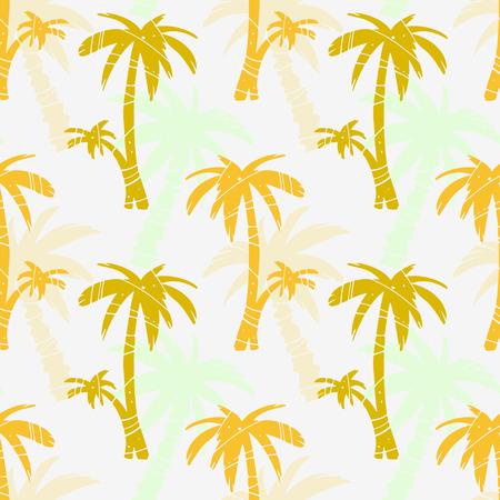 Modèle sans couture exotique avec des silhouettes de cocotiers tropicaux. Forêt, jungle, fond répété. Texture d'impression abstraite. Conception en tissu. Fond d'écran