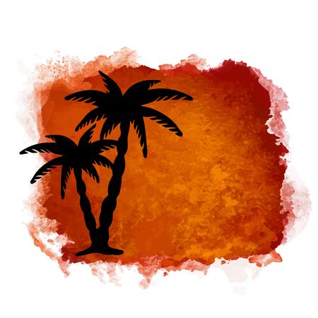 Aquarel vierkante close-up natuur pictogram geïsoleerd op een witte achtergrond. Abstracte kunst. Logo ontwerp