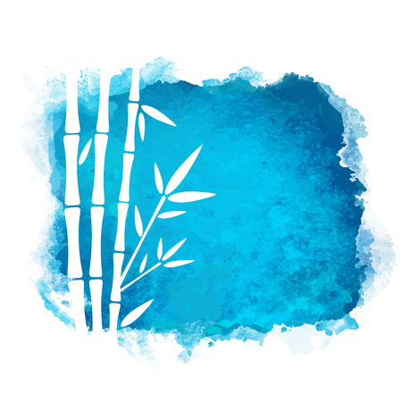 Watercolor square paint Nature icon isolated on white background. Abstract art. Logo design