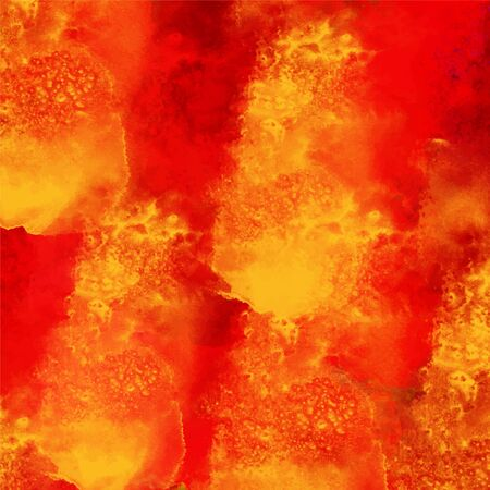 Watercolor burning fire background texture