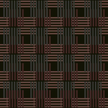 Abstract stripped geometric seamless pattern in coffee colors. Modern background texture. Lines, stripes