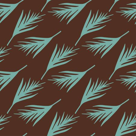 Seamless pattern with silhouettes palm leaves. Natural vintage repeating print texture. Cloth design. Wallpaper, wrapping