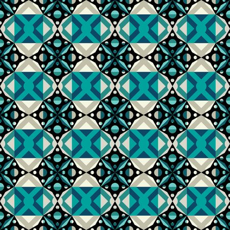 Abstract ethnic oriental seamless pattern. Mosaic colorful geometric background. Repeating texture. Cloth design, wrapping, wallpaper