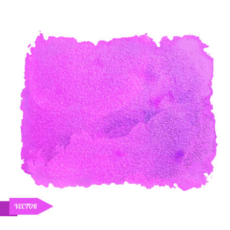 Watercolor pink paint stain isolated on a white background. Art abstract. Frame