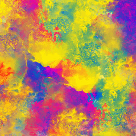 Watercolor colorful rainbow paint stain background texture. Art abstract