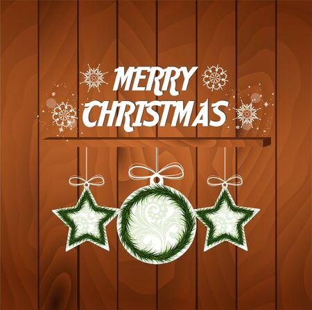 Christmas sample card Vector