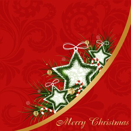 Christmas red abstract card Illustration