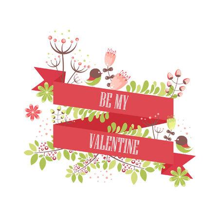 pring: Valentines card Illustration