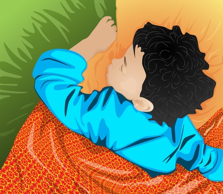 The sleeping little boy Stock Vector - 10267778