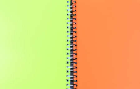 Bright school notebooks background. Back to school soon. Copy space.
