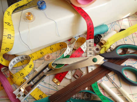 belongings: sewings belongings Stock Photo