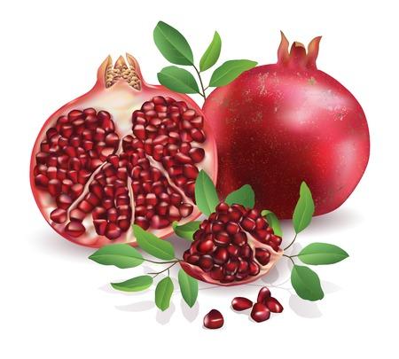 pomegranate: Pomegranate isolated on white background.