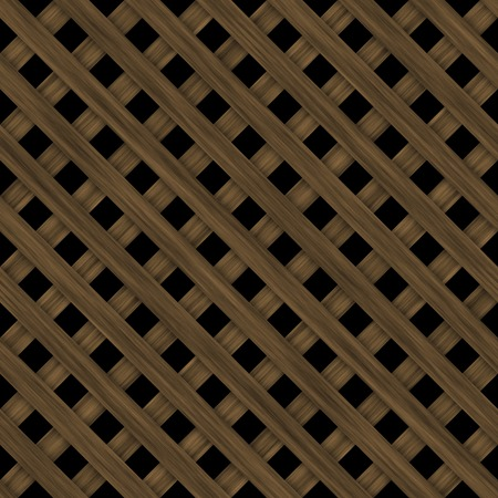 lattice: Seamless dark wooden lattice isolated on black background.