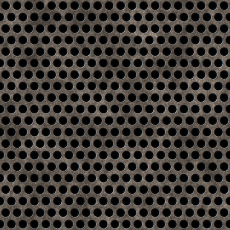 rusted: Seamless rusted perforated iron panel.