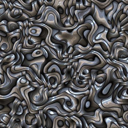 interweaving: Seamless interweaving metallic surface.