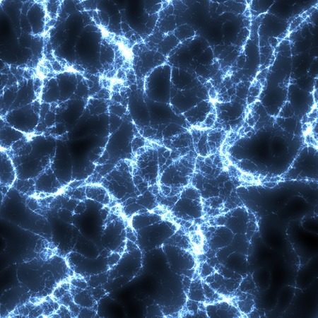 Seamless dark blue backdrop of flowing light. Glowing lines and flare plasma in space.